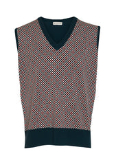 Etro Check Wool Sweater Vest