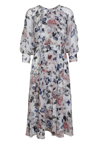 Erdem Yusra Ashley Silk Midi Dress