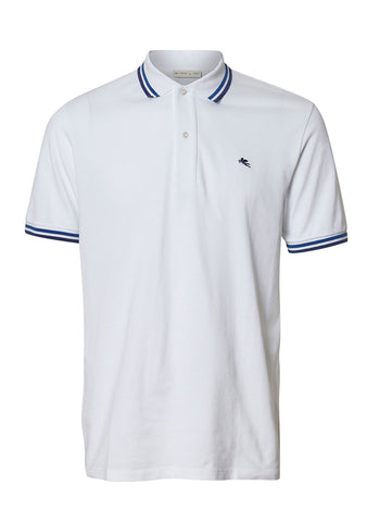 Etro White Polo Shirt shop online at lot29.dk
