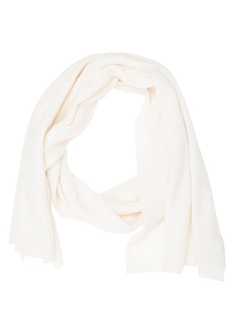 Bad Habits White Cashmere Scarf