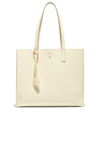 Mark Cross Winter White Fitzgerald Tote