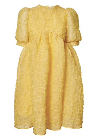 Cecilie Bahnsen Kane Yellow Panel Dress shop online lot29.dk