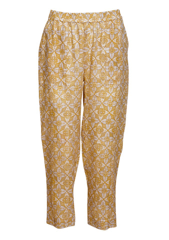 Raquel Allegra Golden Pull On Pants