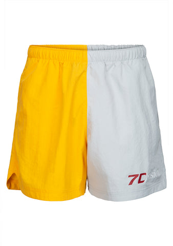 7 DAYS Grey & Yellow Champion Shorts