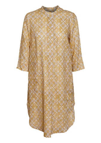 Raquel Allegra Golden Tunic Henley Dress