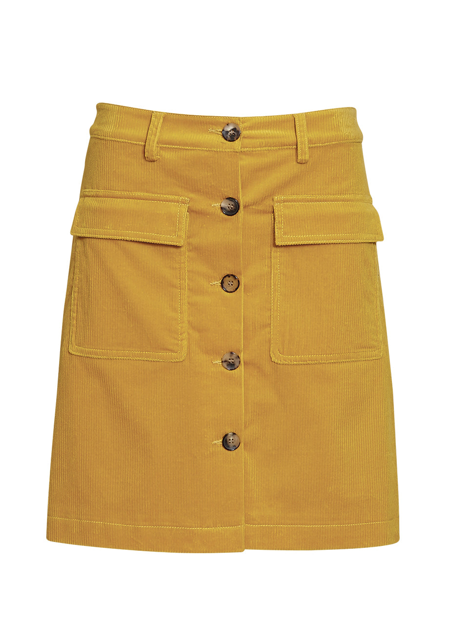 Yellow Corduroy Skirt