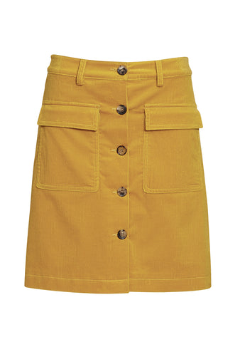 Etro Yellow Corduroy Skirt