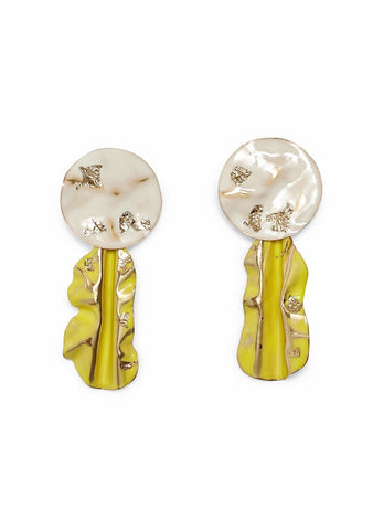 Rachel Comey Fender Bone-Chartreuse Earrings