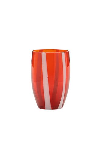 Zafferano Red Gessato Tumbler