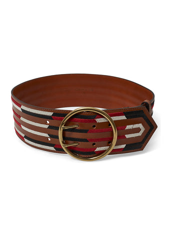 Etro Wide Leather Belt shop online at lot29.dk