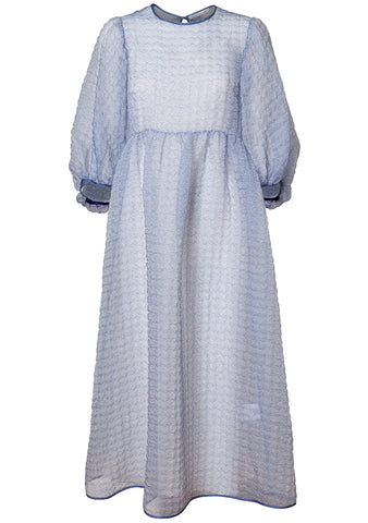 Cecilie Bahnsen Karmen Blue Gauze Dress