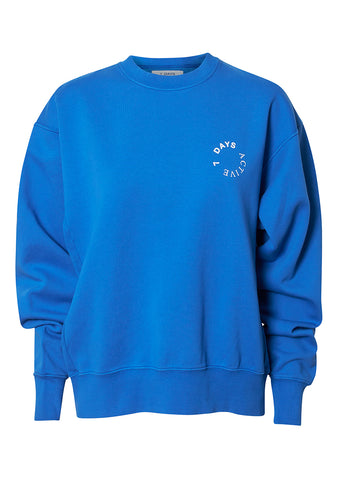 7 DAYS Princess Blue Monday Crewneck