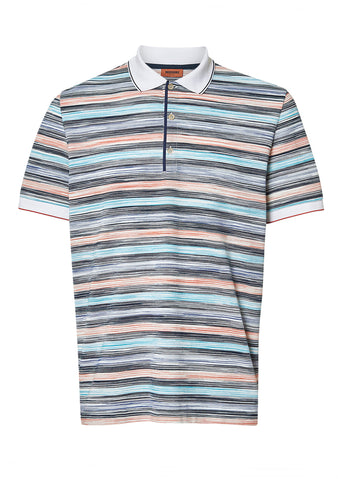 Missoni Men Multicolored Polo Shirt shop online at lot29.dk