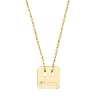 Gold plated happy necklace