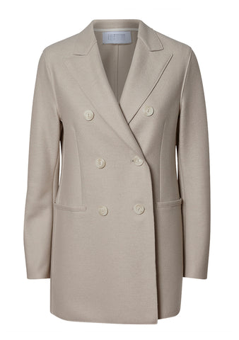 Harris Wharf London Cream Light Pressed Wool Blazer shop online