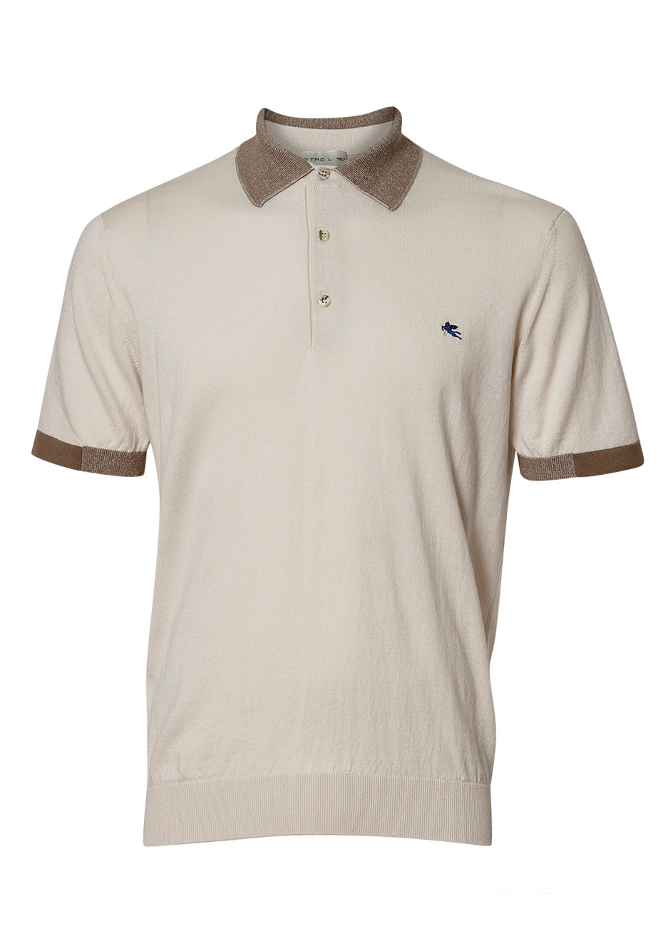 Ivory Knit Polo Shirt