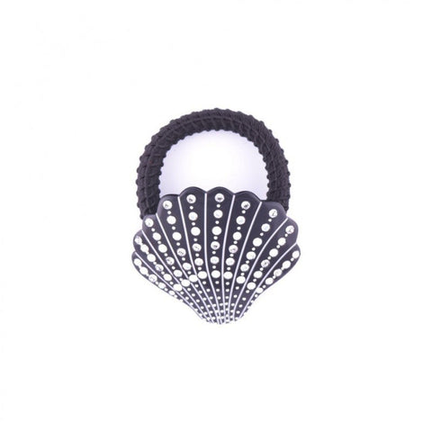 Black seashell elastic