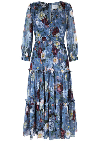 Erdem Elspeth Gertrude Silk Midi Dress