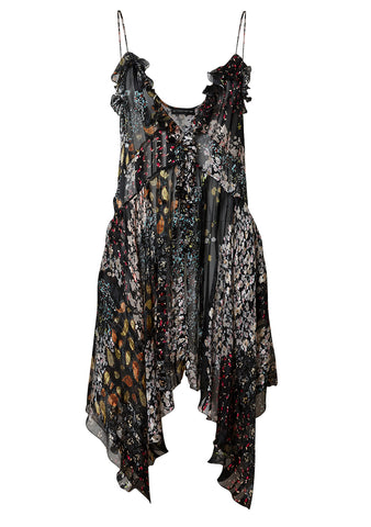 Etro Black Floral Silk Top shop online at lot29.dk