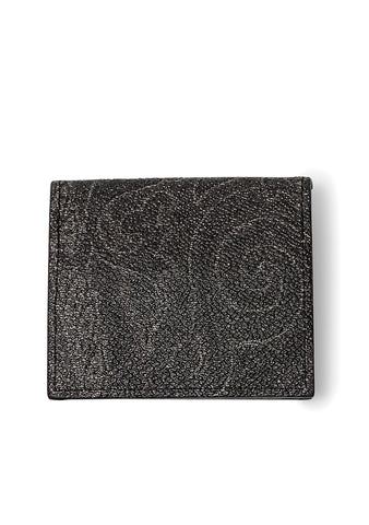 Black Paisley Printed Coins Holder
