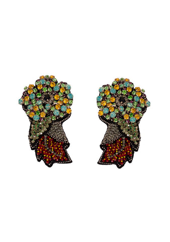 Etro Embroidered Earrings LOT#29