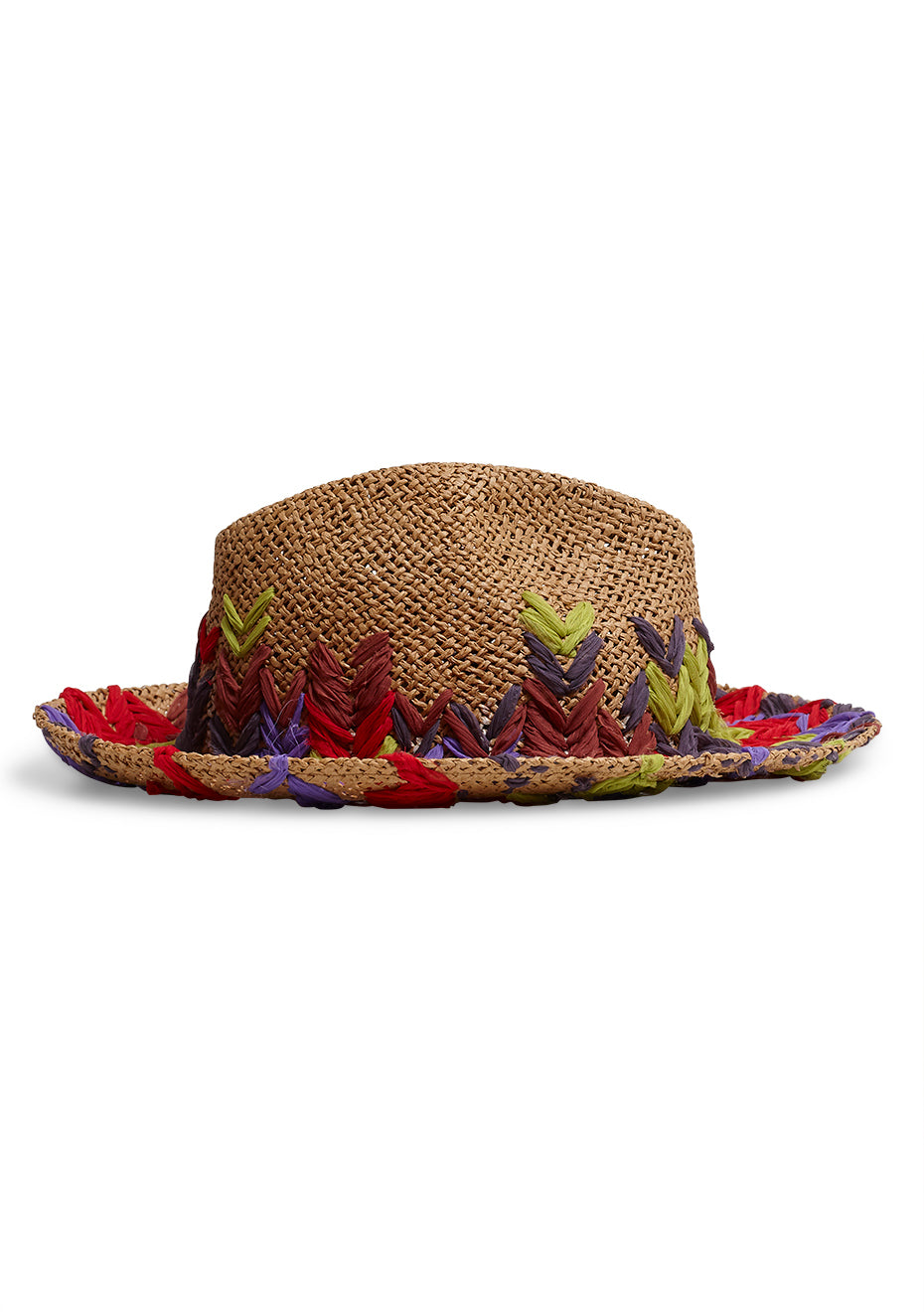 Embroidered Straw Hat