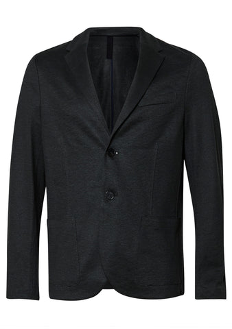 Harris Wharf London Dark Grey Linen Blazer shop online