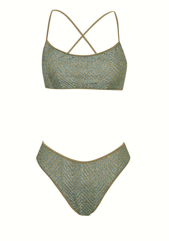 Hanne Bloch Zig Zag High-leg Bikini shop online at lot29.dk