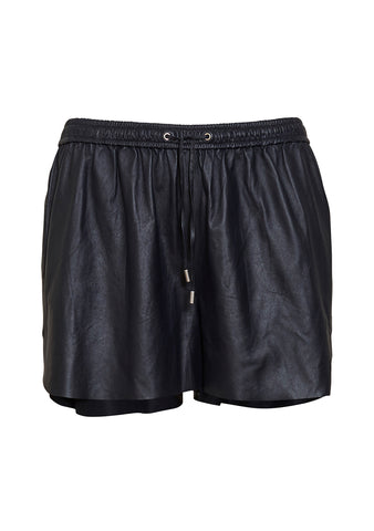 UTZON Blue Leather Shorts