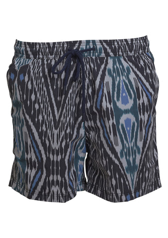 Black and blue swim shorts