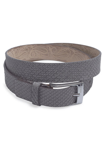 Etro Grey Python Leather Belt