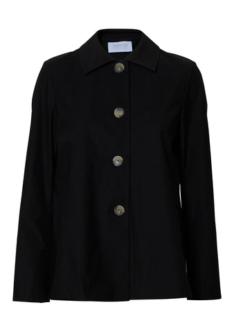 Loden Short Black Technical Jacket