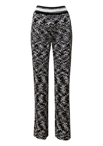 Black and White Knitted Pants