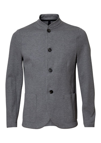 Nehru Light Grey Twill Jacket