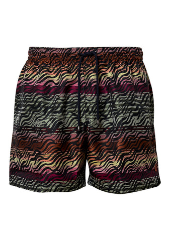 Zebra Striped Swim Shorts
