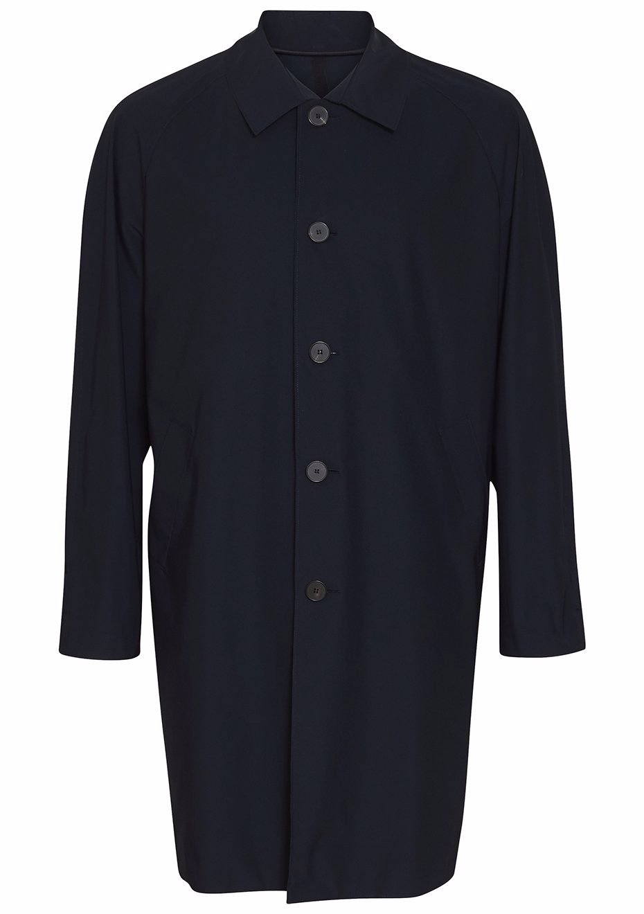 Dark Blue Technical Overcoat