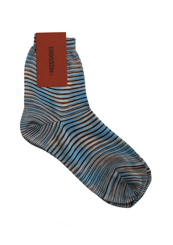 Missoni Blue Striped Socks