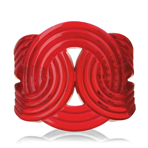 Clear Red Solar Light Cuff