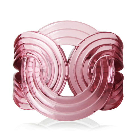 Clear Pink Solar Light Cuff