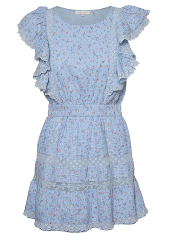 LoveShackFancy Roberta Light Blue Dress shop at lot29.dk