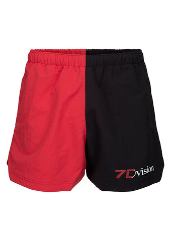 7 DAYS Black & Red Champion Shorts