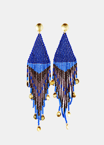 MAREgold Blue Sinaloa Dangling Earring shop online at lot29.dk