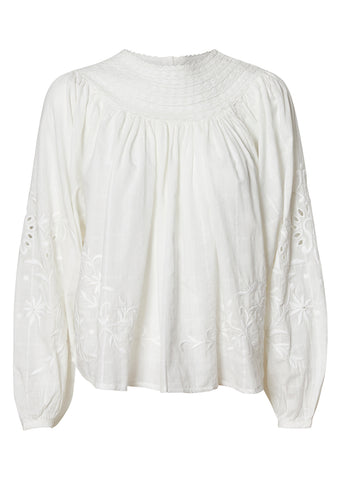 LoveShackFancy Tommy White Blouse
