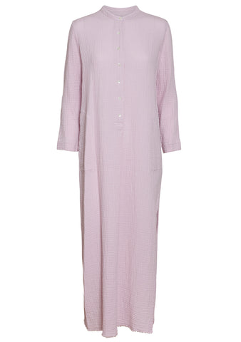 Orchid Gauze Henley Dress