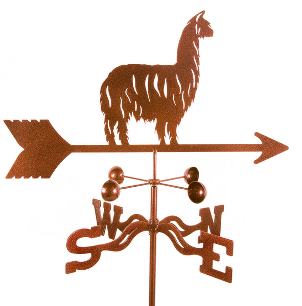 Combine function and yard art with our Alpaca / Llama Rain Gauge Garden Stake Weathervane
