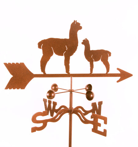 Combine function and yard art with our Alpaca Momma and Baby Rain Gauge Garden Stake Weathervane