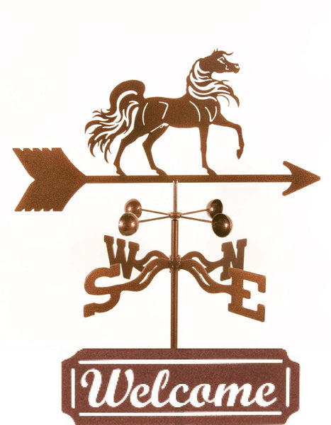 Combine function and yard art with our Arabian Horse Rain Gauge Weathervane and Welcome Sign