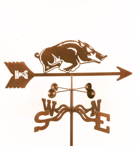 Arkansas Razorbacks Collegiate Rain Gauge Garden Stake Weathervane