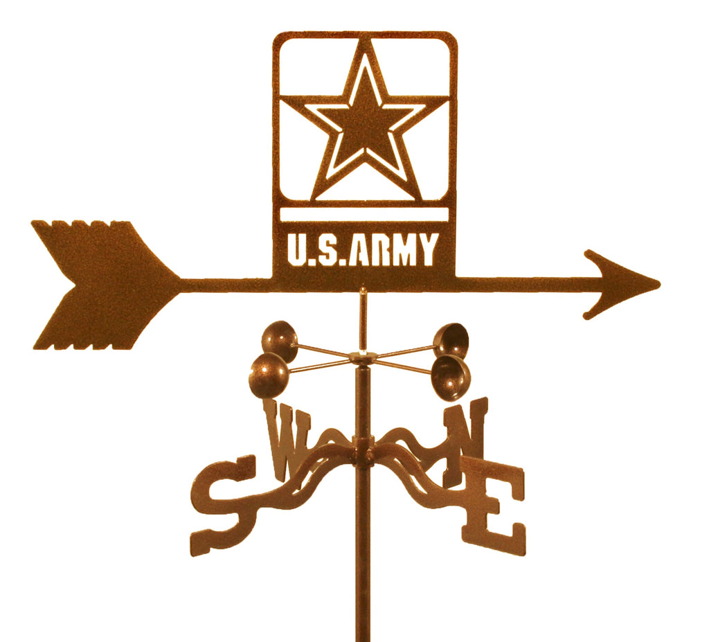 Combine function and yard art with our United States Army Military Rain Gauge Garden Stake Weathervane (new)