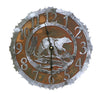 This bear clock is just a sample of our 14 gauge two tone rust and silver combination clocks